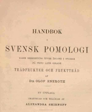 O Eneroth Handbok i  svensk pomologi