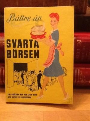 Vivi Täckholm berättar och presenterar recept som passar för ransoneringstidens begränsningar i hushållet