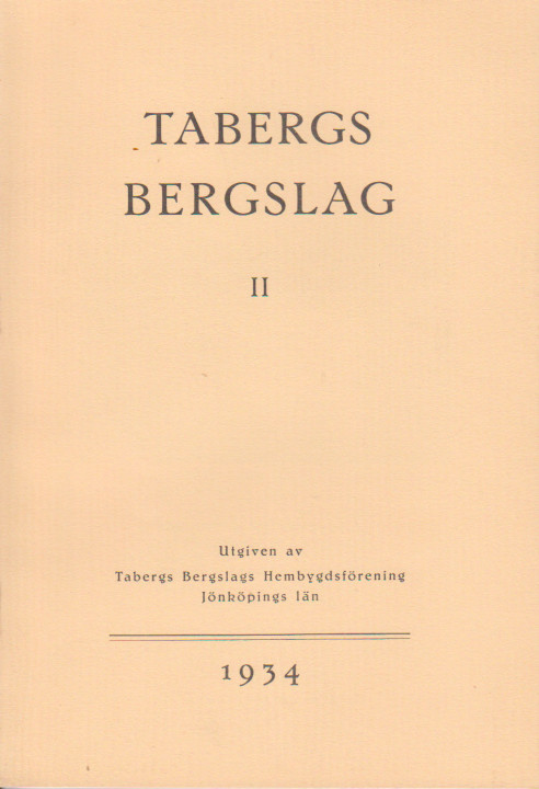 TABERGS BERGSLAG III No 3 1938