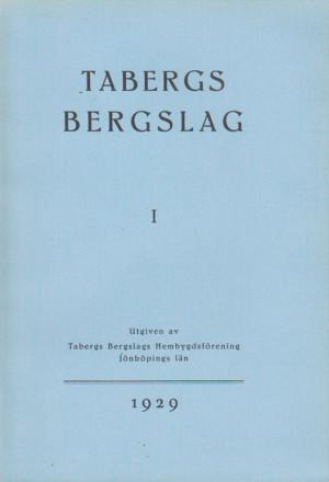 TABERGS BERGSLAG 1 No 1 1929