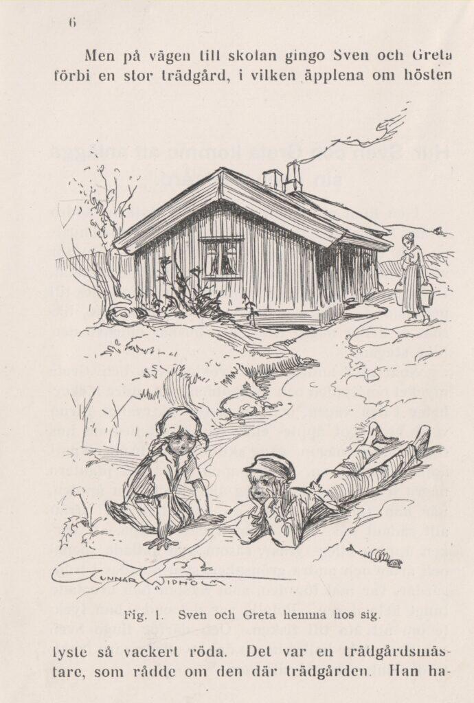 Greta och Sven planerar sin trädgård