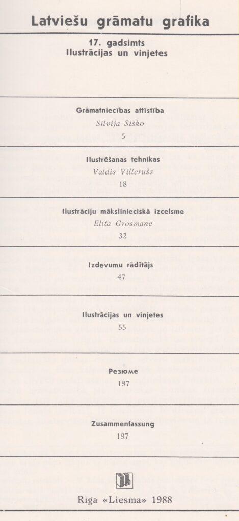Innehåll i Latviešu grāmatu grafika 17. gadsimts