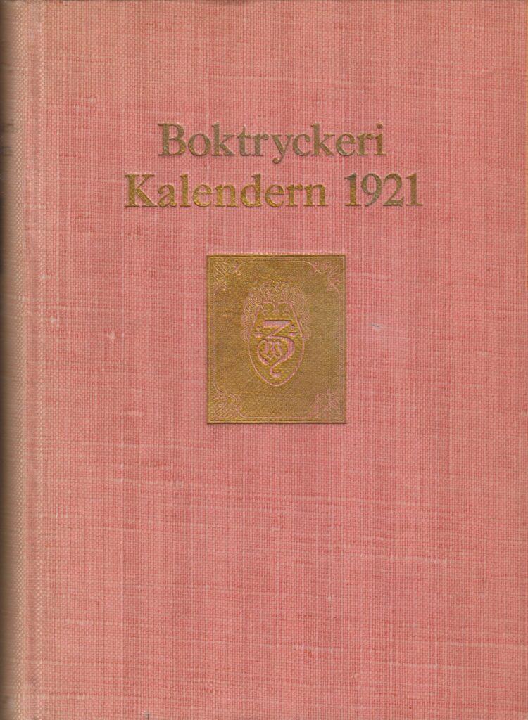 BOKTRYCKERI-KALENDERN 1921