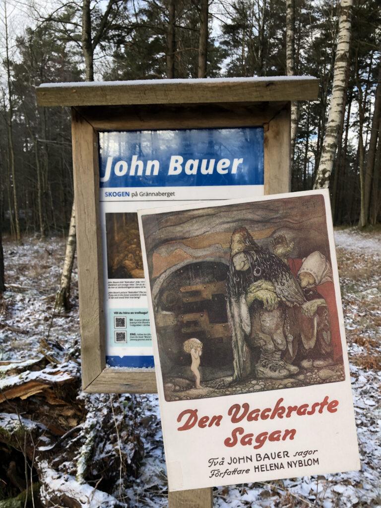 """John Bauer-sagor på Grännaberget (OBS Bilden är """"TERJAD"""" av Antikvariat Citron)"""